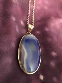 Pendant and silver chain