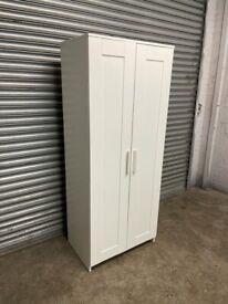 FREE DELIVERY IKEA BRIMNES WHITE 2 DOOR WARDROBE GOOD CONDITION