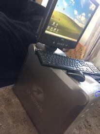 desktop pc tower and monitor BARGIN