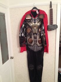 Men's Marvel Thor dark world outfit with hammer