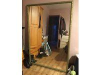 Oversized mirror, 100cm x 149cm, 3.5cm wood frame, solid wood back, dance, drama, shabby chic