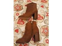 New Look Tan Ankle Boots Size 5 Brand New