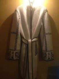 Black/White Wool Shanghai Tang Coat