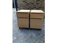 Pair of IKEA filing cabinets