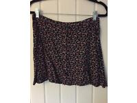 Size 10 mini skirt ditsy print
