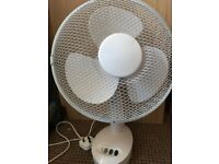Big white rotating fan, very good condition, very powerful, like new