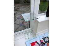 Selection of coffee tables mired glass stands