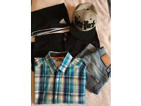 Bundle of clothes from Nudie, Zara, Adidas, Scotch & Soda, River Island, H&M and Karrimor