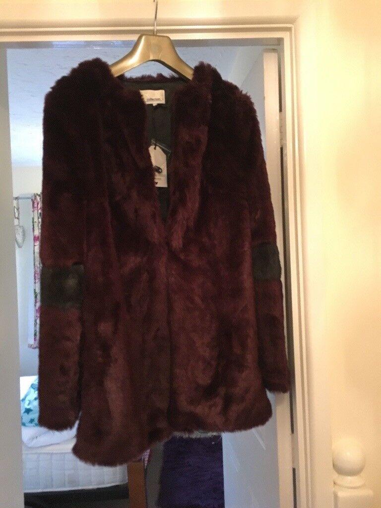 Faux fur jacket - size 12