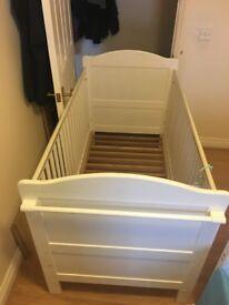 Three piece Nursery Furniture Set Cot, Changing unit, Wardrobe