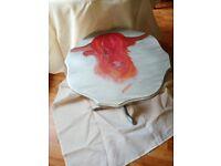Upcycled bespoke Highland cow table