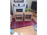 2 side tables brand new