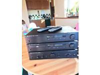 Amplifier, CD player and radio (Cambridge Audio)