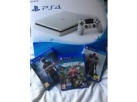 PS4 white 500gb 3games
