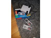 Nintendo classic mini with 2 controllers