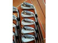 Taylormade p770 irons and ef grind wedge set.