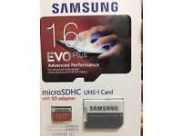 Samsung Evo plus SD card 16gb