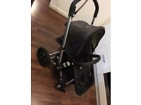 Bugaboo Frog Stroller and bassinet with nappy bag