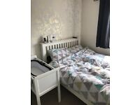 Next wooden double bed in white