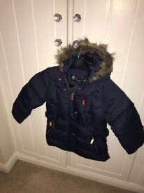 Girls Navy Ralph Lauren Coat - Age 2-3