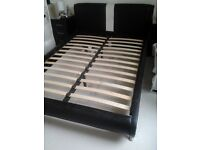 LEATHER LOOK DOUBLE BED BASE-Cat Scratches