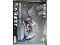 Playstation madcatz steering wheels and pedals