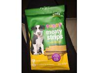 Meaty strips dog treats