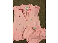 Ralph lauren baby dress and pants
