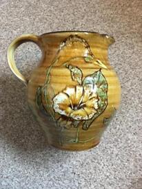 Guernsey pottery floral jug