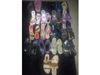 BULK BUNDLE JOBLOT LADIES WOMENS SHOES HEELS WEDGES RIVER ISLAND NEW LOOK FAITH CHRISTMAS CARBOOT