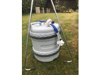 Aqua caddy with pull handle and Whale 12v pump