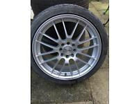 """Dezent multifit alloys 17"""" with 2 as new tyres."""