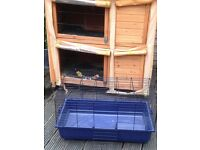 Outside Duplex Rabbit/Guinea Pig Hutch, Indoor Hutch and bedding/food and equipment