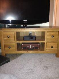 Next Vienna oak tv stand