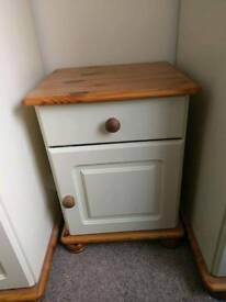 Cream and pine side table