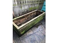 Free large wooden planter