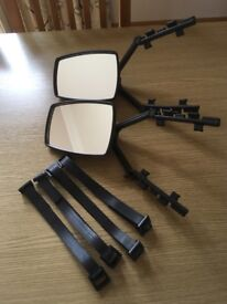 Towing Mirrors, adjustable to fit any car, good condition