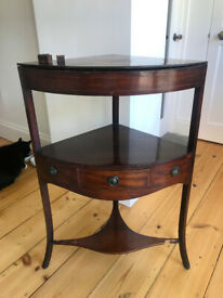 Mahogany Georgian converted washstand to table. Lovely detail. Needs a little work