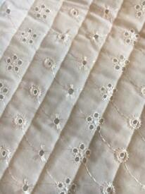 Quilted Embroidery Anglaise