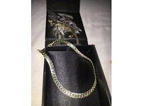 5mm 14K Gold Moon Cut Cuban Chain