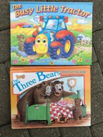 Two pop up picture books