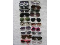 15 Pairs of Sunglasses - Any 5 pairs for £10.00