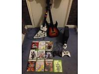 Xbox 360 250GB 2 controllers 25 games all wires