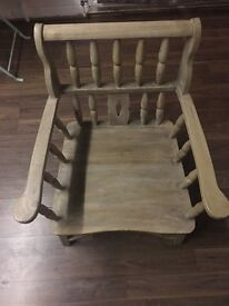 Beautiful solid wood chair- no veneer or imitation