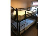 Black Metal Frame Bunk Bed