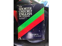 2X The Shorter Oxford English Dictionary