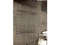 Metal Slatwall fitting prongs