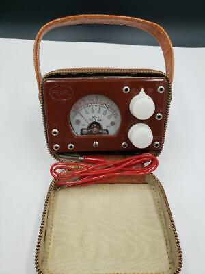 Vtg Japan Pearl Pocket Tester H. Seki Co. Case Manual Voltmeter Multimeter