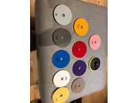 Diamond polishing pad sets