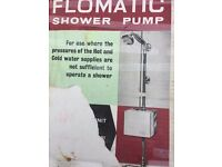 FLOMATC Shower Booster for Hot and Cold water supply.
